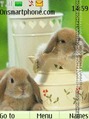 Cute Rabbit2 tema screenshot
