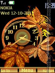 Autumn Clock tema screenshot