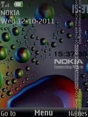 Скриншот темы Water Nokia
