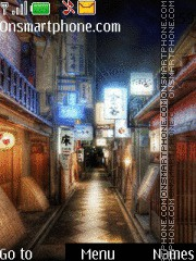 Japanese Street tema screenshot
