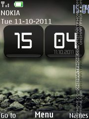 Blurry Rock Clock theme screenshot