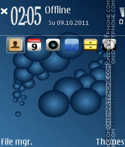 Blue Iphone theme screenshot