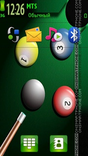 Snooker 01 tema screenshot