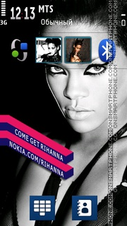 Rihanna Music Icons es el tema de pantalla
