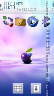 Apple 3d Iconx theme screenshot