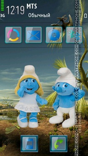 Скриншот темы Smurfs Cartoon