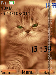 Cat Clock theme screenshot