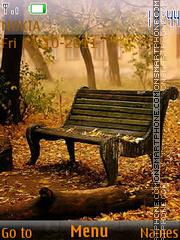 Raining autumn theme screenshot