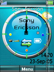 Sony Ericsson Clock 03 theme screenshot
