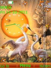 Birds Clock 04 es el tema de pantalla
