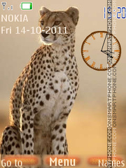 Cheetah Clock 01 theme screenshot