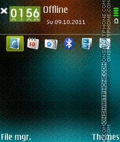 Aqua Di theme screenshot