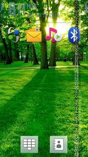 Summer Garden theme screenshot