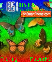 Fantasy Butterfly theme screenshot
