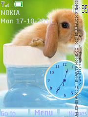 Скриншот темы Cute rabbit flash