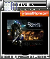 Dragon Knight theme screenshot