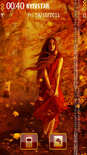 Autumn Girl theme screenshot