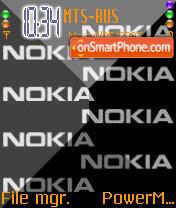 3d Black 8 Nokia tema screenshot