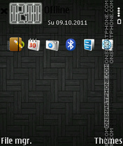 Black Mini 3d theme screenshot