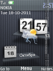 Iphone style theme screenshot