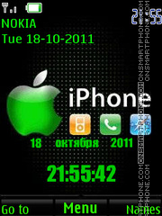 iPhone Clock tema screenshot