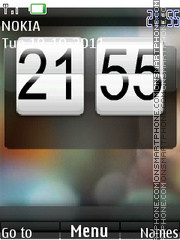 Android SWF Clock tema screenshot
