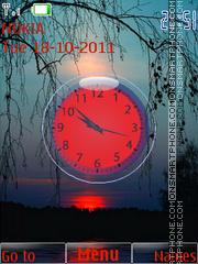 Скриншот темы Evening Clock