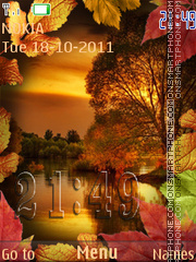 Autumn landscape theme screenshot
