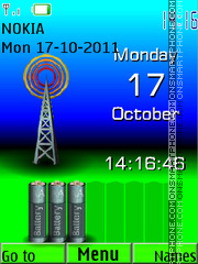 Tower Clock theme screenshot