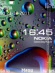 Drops Clock tema screenshot