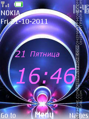 Sphere Clock theme screenshot
