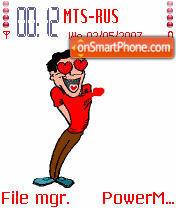 Animated Crazy Guy es el tema de pantalla