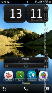 Nokia (Belle) theme screenshot