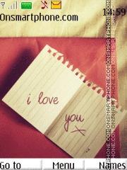 I Love You 45 es el tema de pantalla