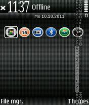 Cute Black theme screenshot