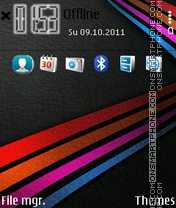 Capture d'écran Anna Lines Symbian thème