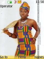 African beauty theme screenshot