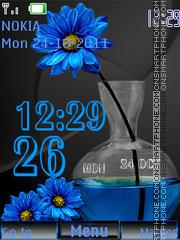 Blue flower (AR) theme screenshot