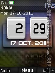 Nokia Clock 13 es el tema de pantalla
