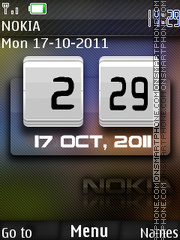 Nokia Clock 13 theme screenshot