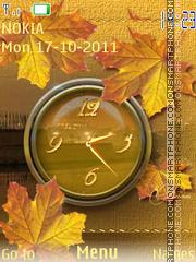 Autumn Clock 03 theme screenshot