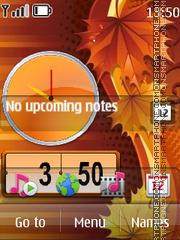 Dual Leaf Clock theme screenshot