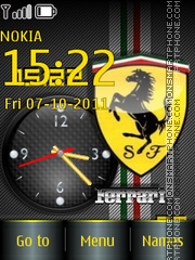 Capture d'écran Ferrari Swf 01 thème