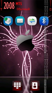 Pink Apple theme screenshot
