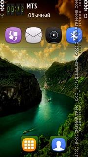 Nice Lake tema screenshot