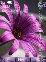 Purple Flash es el tema de pantalla