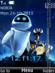 Wall-e tema screenshot