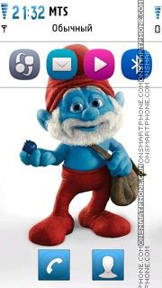 Smurf Papa theme screenshot