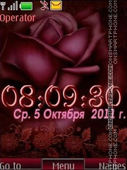Rose swf tema screenshot