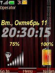 Bordo clock indicators swf theme screenshot